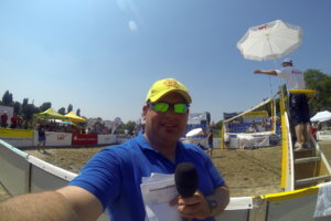 Moderation beim LBS Cup Beach-Volleyball in Heidelberg 2015