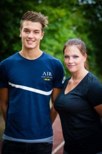 Julia mit Co-Trainer Tim Bruns, Foto von Markus Abels