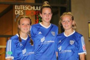 Anna-Lena Riedel (von links), Lara Schmidt und Maren Tellenbröker. Foto: Benedikt Bernshausen