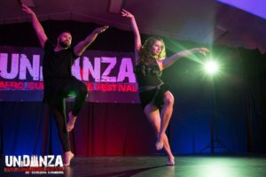 Mit Tanzpartner Jean-Paul Streden, Foto Luka Kivela